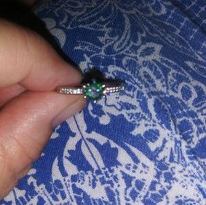 Size 7 mystic topaz ring